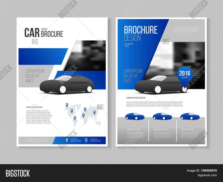Car Brochure Auto Leaflet Vector amp Photo Bigstock