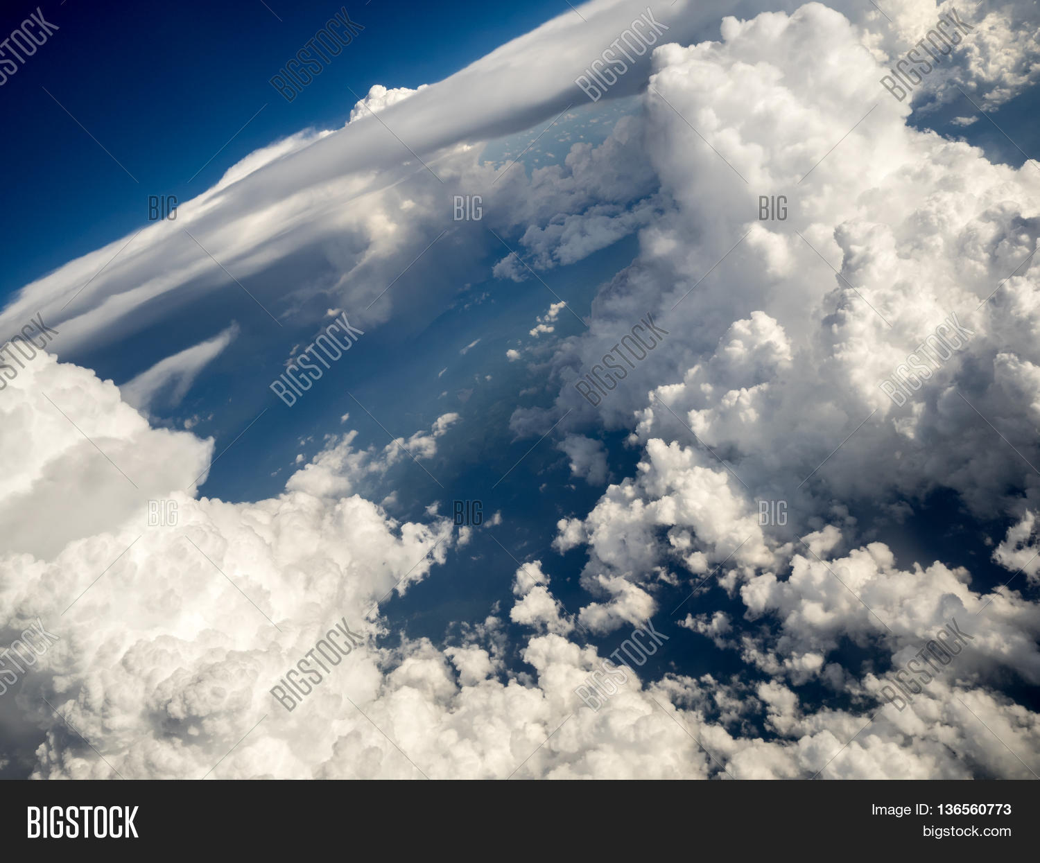 cumulus stratus clouds horizontal image photo bigstock. Black Bedroom Furniture Sets. Home Design Ideas