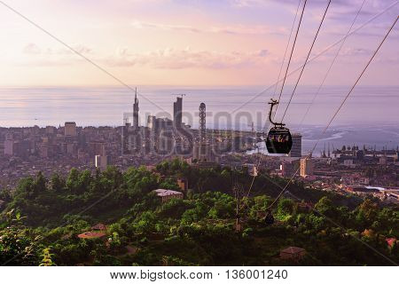 Batumi Georgia city view at sunset of the observation deck