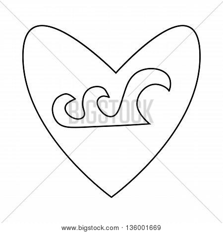 Guitar pick icon in outline style isolated on white background