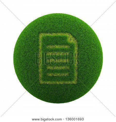 Grass Sphere Document Icon
