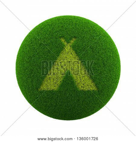 Grass Sphere Camping Icon