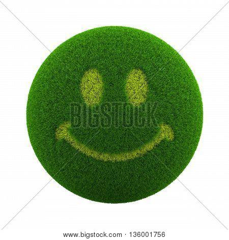 Grass Sphere Smile Icon
