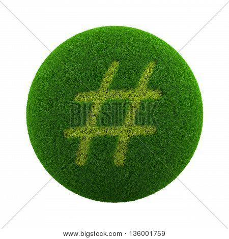 Grass Sphere Sharp Sign Icon