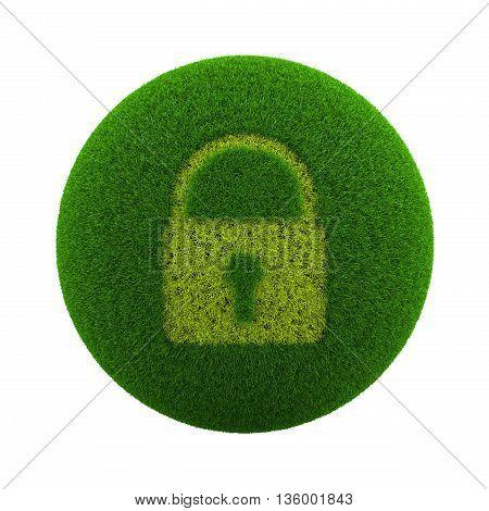 Grass Sphere Lock Icon