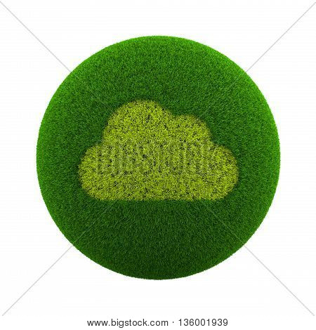 Grass Sphere Cloud Icon