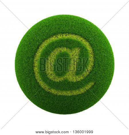 Grass Sphere Email Icon