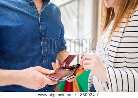 Taking Out The Debit Card