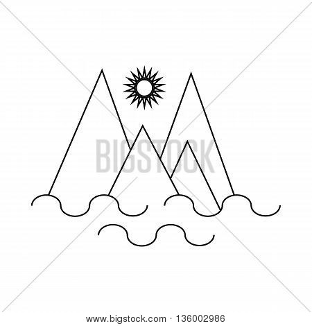 Monte Fitz Roy, Patagonia icon in outline style isolated on white background