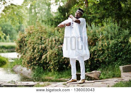 Rich Black Man At White National Dress