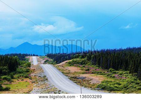 highway on Alaska