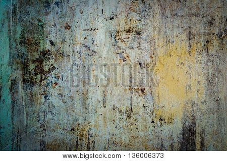 Abstract old rusty cracked metal background texture