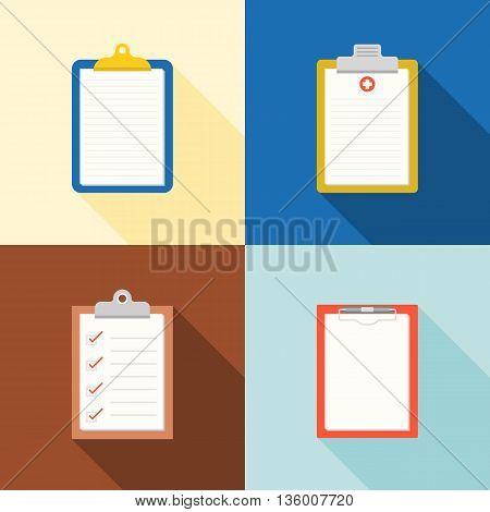 clipboard  icon, medical chart, checklist, blank Chart flat icon,  design