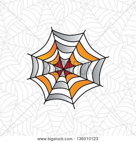 Colorful Spider Web Art