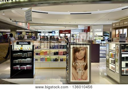 Customers Shop In Changi Airport, Singapore