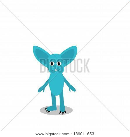 Cute Monster Vector Illustration Children Painted Different