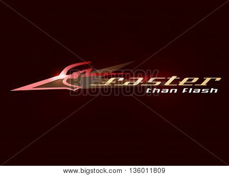 Abstract bird head symbolized fast rapid moving and speed. Vector beak pecker logo