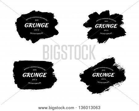 Grunge frame set. vector template texture. Vector iilustration
