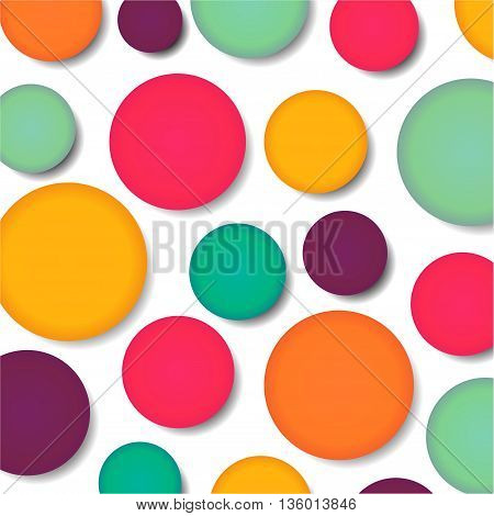 Illustration of colorful bubbles background modern concept