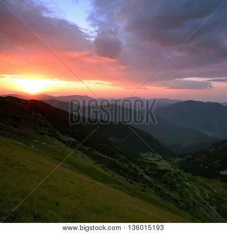 beautiful  summer  landscape in Carpathian mountains, Ukraine, Europe