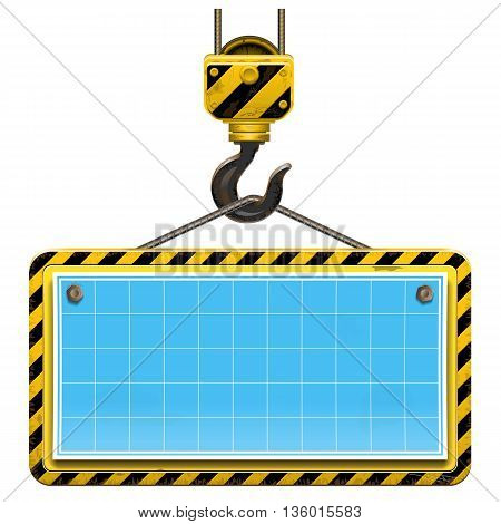 Vector Old Building Frame with Plan isolated on white background