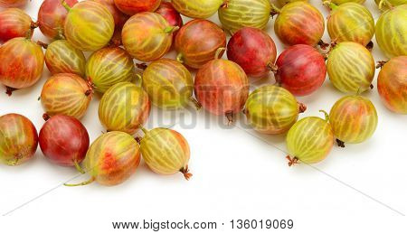 Big ripe gooseberries isolated on a white background