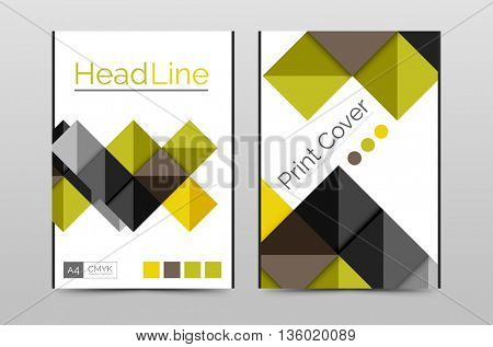 Business annual report brochure cover template, A4 size, Leaflet or web abstract geometric background, Poster magazine, Flyer layout