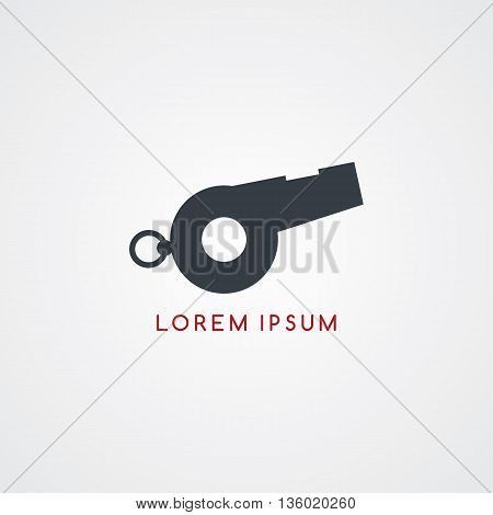 whistle icon sign logotype theme vector art illustration