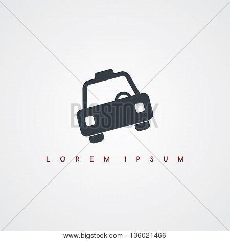 taxi cab transportation icon sign logotype theme vector art illustration