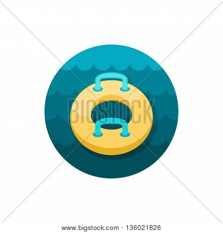 Towable Water Tube Inflatble Boat Floating Raft vector icon. Beach. Summer. Summertime. Holiday. Vacation, ride, water sport, eps 10
