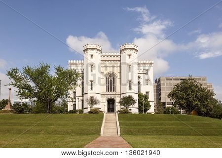 The Old State Capitol building in the city of Baton Rouge. Louisiana United States