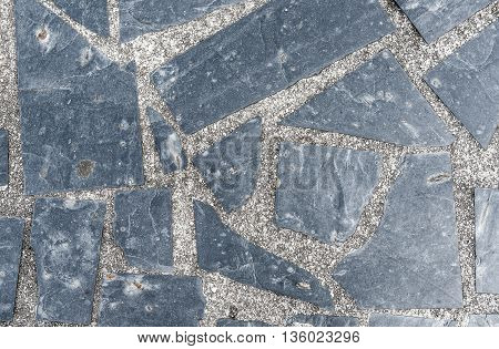 Natural Paving Stone Slabs Flor, Walkway Or Sidewalk Texture.