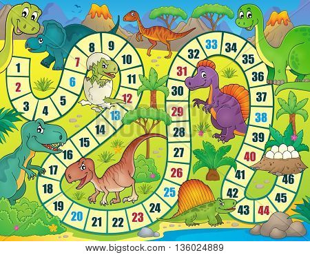 Board game with dinosaur theme 1 - eps10 vector illustration.