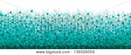 Abstract geometric banner blue and turquoise colors full vector