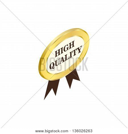 Label high quality icon in isometric 3d style isolated on white background. Products and design symbol