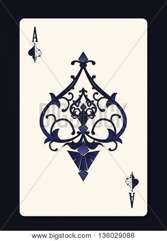 Ace of spades with forging curl pattern