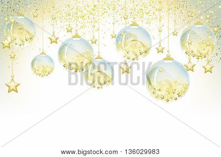 Background with sweet Christmas balls full vector