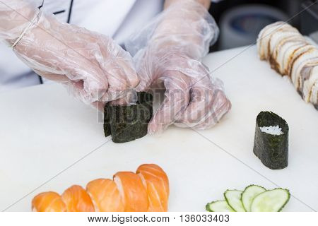chef preparing a meal in a restaurant
