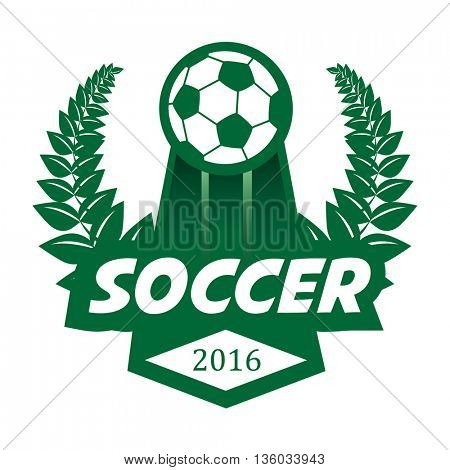 Soccer Football Badge Logo Design Template.