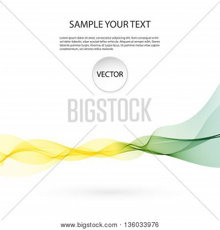 illustration, vector Abstract colorful background with wave
