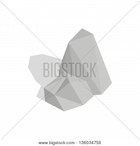 Stones icon in isometric 3d style isolated on white background. Nature symbol