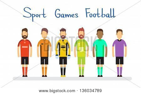 Football Match Team Sport Competition Banner Flat Vector Illustration