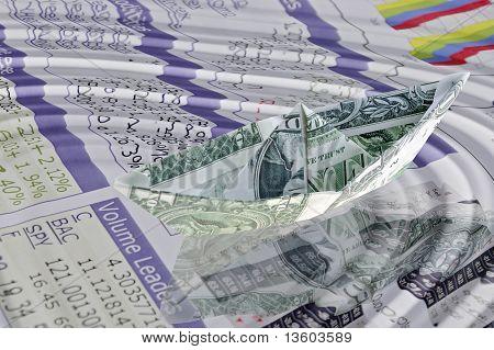 Paper Dollar Boat