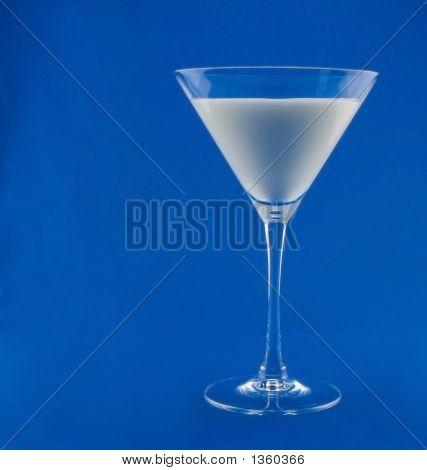 Milk In Martini Glass