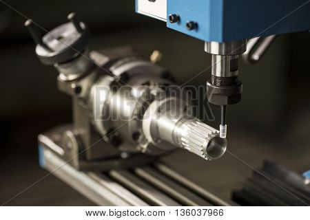 Milling Machine on the workbench in workroom