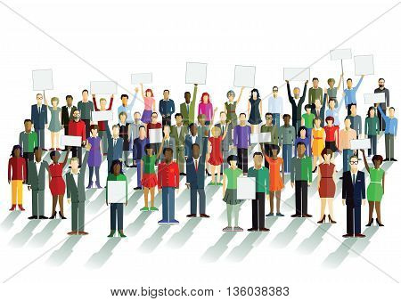 Demonstration and opinion, democratically, conflict, strife, freedom,