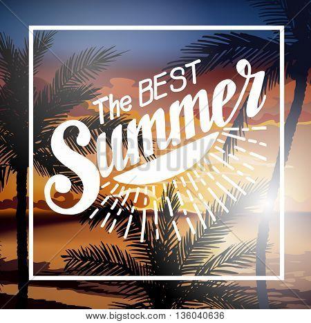 Hello Summer Beach Party Flyer.