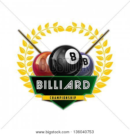 Design Billiards, pool and snooker sport icon