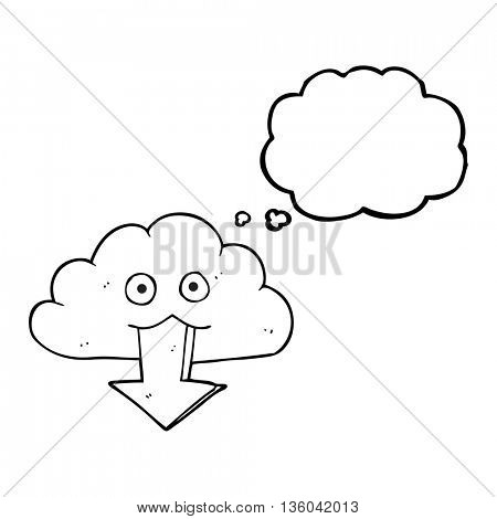 freehand drawn thought bubble cartoon download from the cloud