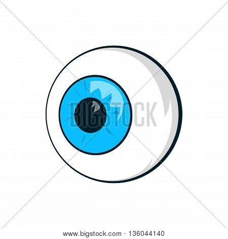 Eyes icon in cartoon style isolated on white background. Organ of the visual system symbol